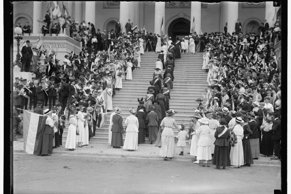 WOMAN SUFFRAGE AT CAPITOL