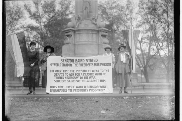 Suffrage Banner Senator Baird