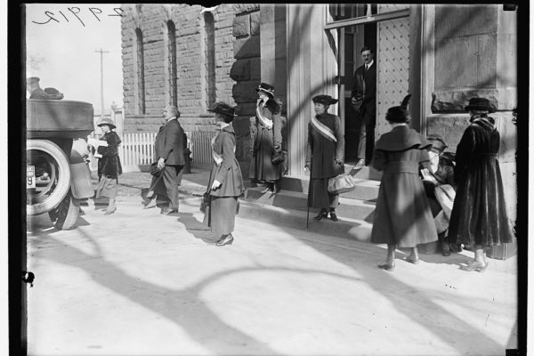 Suffragists Leaving Jail