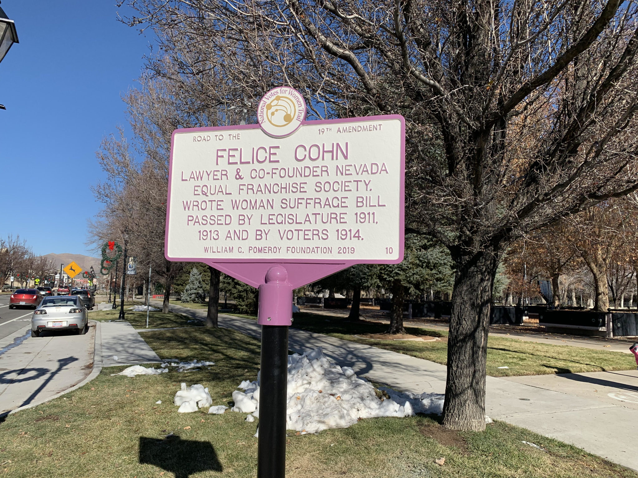 Felice Cohn Pomeroy Marker unveiled in Carson City, Nevada