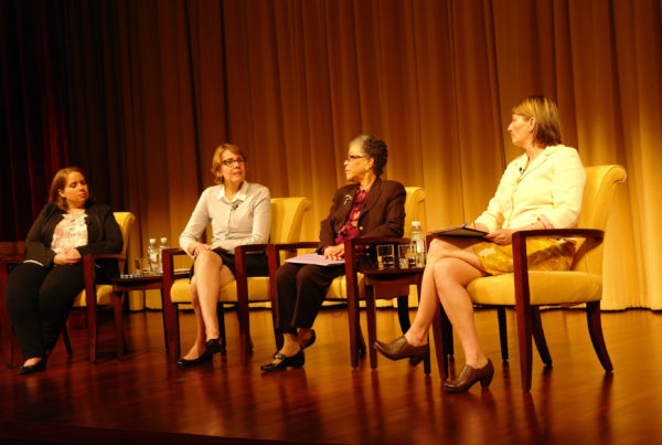 NCWHS board members speak at the National Archives
