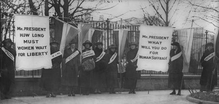 Women Suffragists picketing the White House, February 1917. Library of Congress, Prints and Photographs Division.
