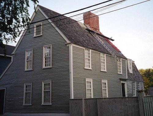 Narbonne House in Salem Maritime National Historic Site in Massachusetts